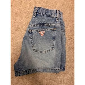 Vintage Guess High wasted Jean shorts